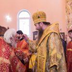 Епископ Ванинский и Переяславский Савватий возглавил всенощное бдение в храме святого великомученика Георгия Победоносца села Сосновка