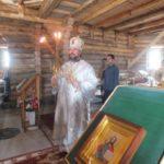 В праздник Преображения епископ Ванинский и Переяславский Аристарх совершил первую Божественную литургию в строящемся храме святителя Николая п. Ванино