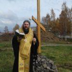 На месте строительства будущего кафедрального собора Ванинской епархии состоялось освящение поклонного креста