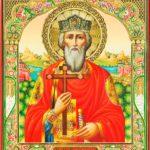 БЛАГОДЕТЕЛЬ ПОДАРИЛ ХРАМУ ИКОНУ, НАПИСАННУЮ В ЧЕСТЬ СВЯТОГО РАВНОАПОСТОЛЬНОГО ВЕЛИКОГО  КНЯЗЯ ВЛАДИМИРА